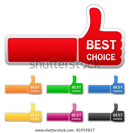 Vector set of thumb up signs