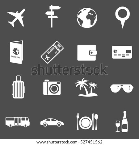 Vector Set of Travel and Vacation Icons.