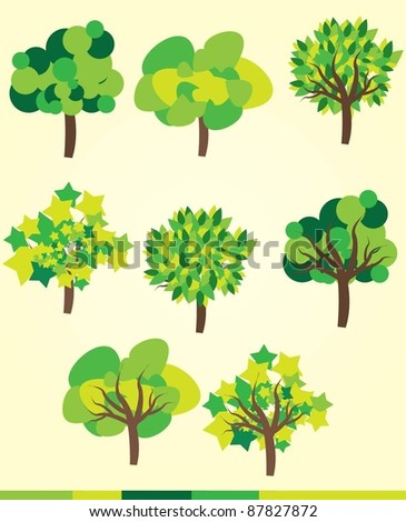 vector set of tree collection