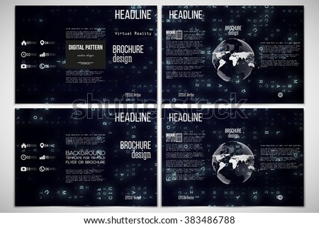 vector set of tri fold brochure
