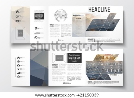 Trifold Brochure Design Template In Modern Geometric Style - Brochures design templates