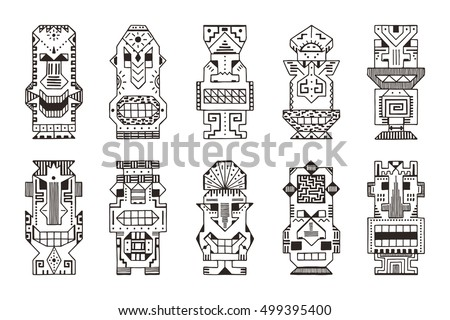 Tiki Warrior Download Free Vector Art Stock Graphics Images