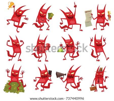 vector set of twelve cartoon