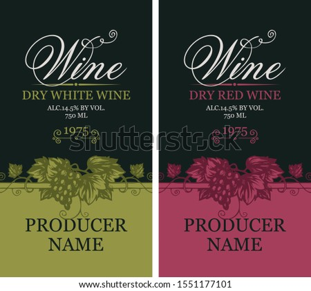 vector set of two labels for