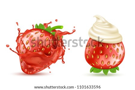 vector set of two red ripe