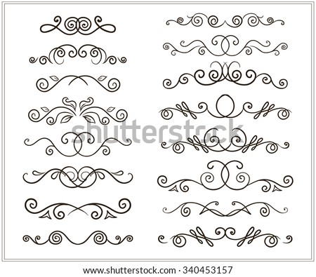 vector set of unfilled doodle...