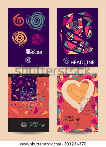 vector set of unusual creative