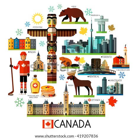 vector set of various canada...