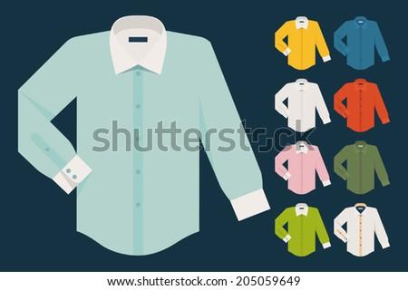 Vector set of various dress shirts  Stock photo ©