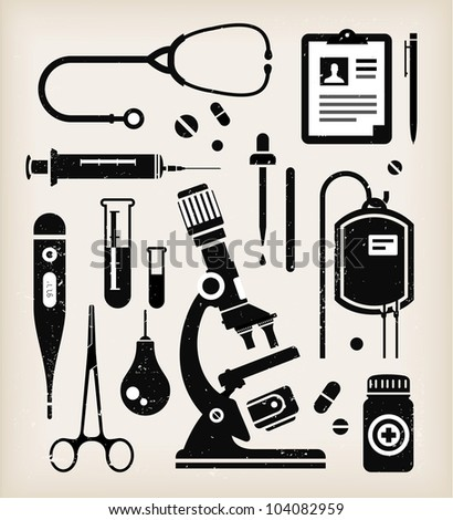 Vector set of various medical icons