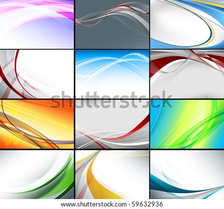 vector set of various of business cards templates. Eps10