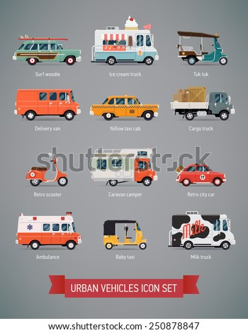 vector set of various urban and