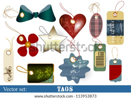 vector set of vector labels for sale design