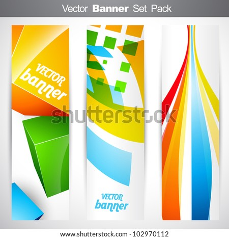 vector set of vertical headers