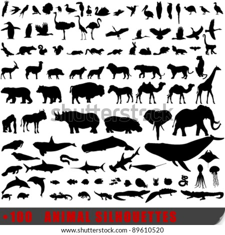 vector set of 100 very detailed