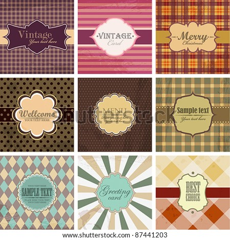 Vector set of vintage backgrounds with place for text.
