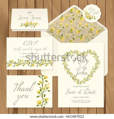 vector set of vintage floral