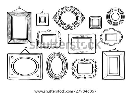 Free Cartoon Doodle Frame Vectors - Download Free Vector Art, Stock ...