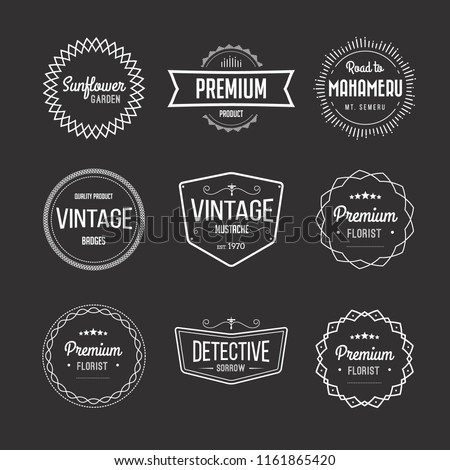 Vector set of vintage retro badges / stamps / labels/ insignias. Inspired by handcrafted classic signs. #1161865420
