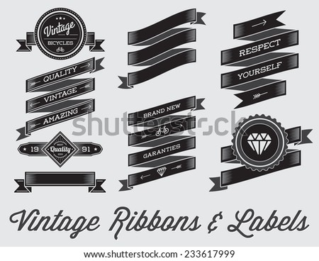 vector set of vintage retro