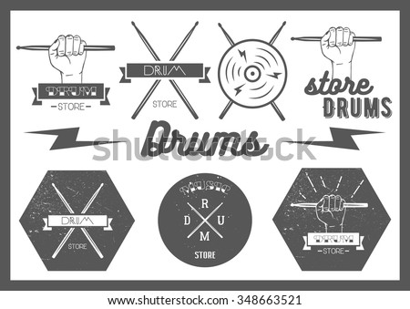 vector set of vintage style...