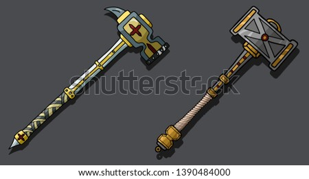 vector set of 2 warhammers