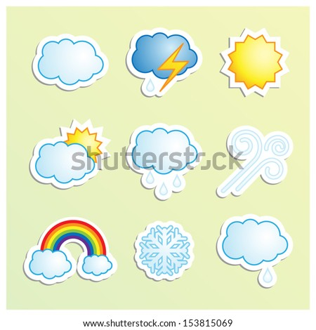 Vector set of weather icons./Weather icons/Weather icons.