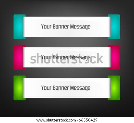 vector set of web banner elements