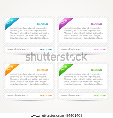 vector set of web elements in light white shade