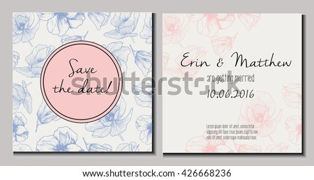 vector set of wedding