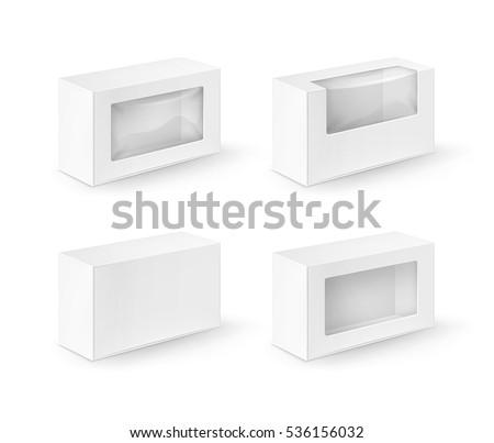 vector set of white blank
