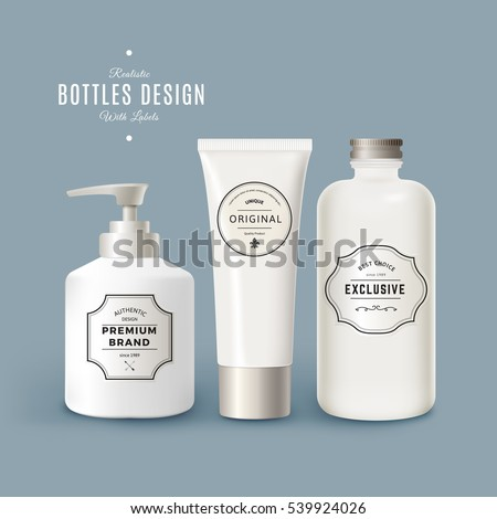 vector set of white realistic
