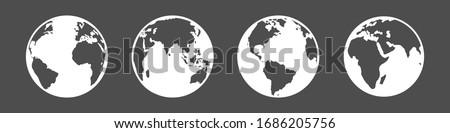 vector set of white silhouette