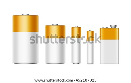 vector set of white yellow