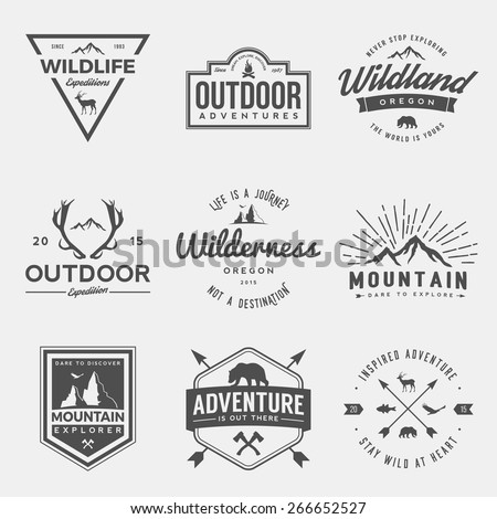 vector set of wilderness and