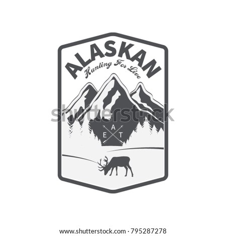 vector set of wilderness and nature exploration vintage logos, emblems, silhouettes and design elements, print and banner, shirt design