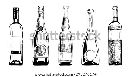 vector set of wine and