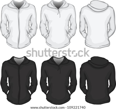 vector set of women's hooded
