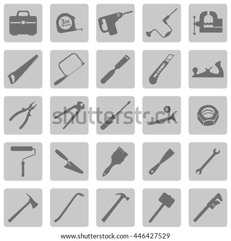 vector set of work tools icons