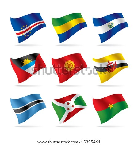Vector set of world flags 8