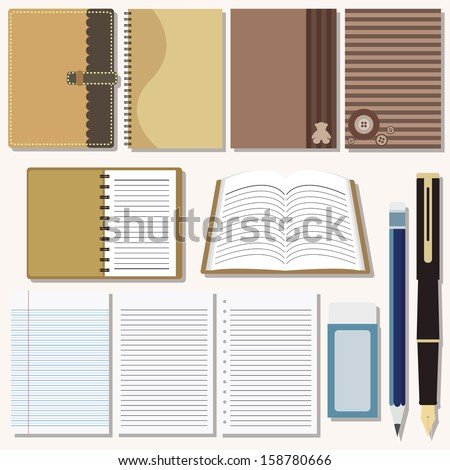 Vector set of writing and painting tools