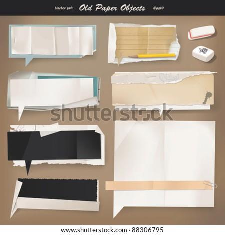 Vector set: Old paper (eps10)