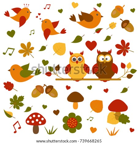 vector set on the theme of