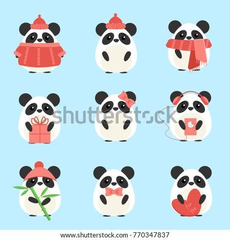 vector set pandas in warm