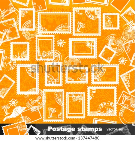 Vector set - postage stamps