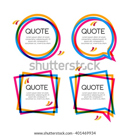vector set quote frame