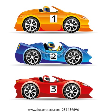vector set racing cars