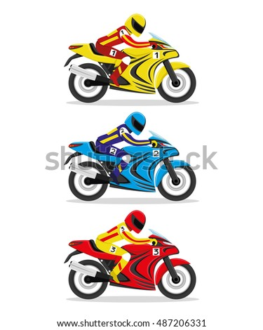 Vector Images Illustrations And Cliparts Vector Set Racing
