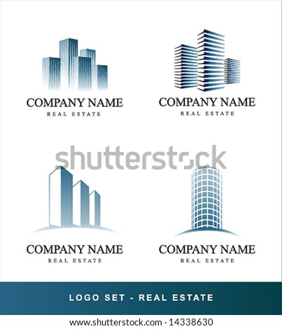 Vector set Real Estate concept