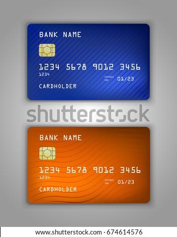 vector set realistic credit